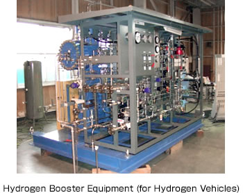 Hydrogen Booster Equipment (for Hydrogen Vehicles)